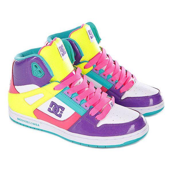 Кеды высокие женские DC Rebound Hi Womens Shoe White/Purple/Opu ❤ liked on Polyvore featuring shoes, purple shoes and white shoes