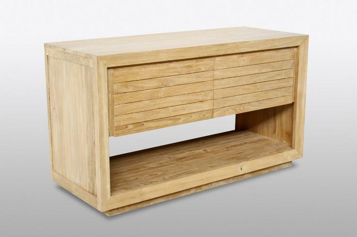 Meuble salle de bain ENIGMA prêt à poser  100% teck massif En savoir + avec Bain Teck, dédié à la salle de bain