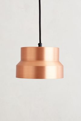 tiered copper pendant lamp / anthropologie