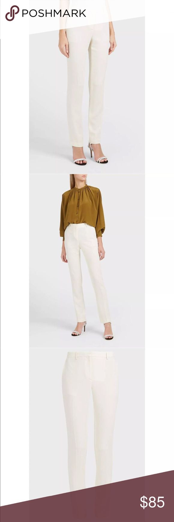 Theory Ivory Hartsdale Np Approach 2 Slim Pants 2 NWT Shopbop $275 Theory Ivory Hartsdale Np Approach 2 Slim Leg Pants Size 2  SOLD-OUT EVERYWHERE!!!  A solid pant with slant pockets, back button welt pockets and flare leg details to complete your next casual outfit.  Zip fly with hook-and-bar closure.  Size-2 Theory Pants