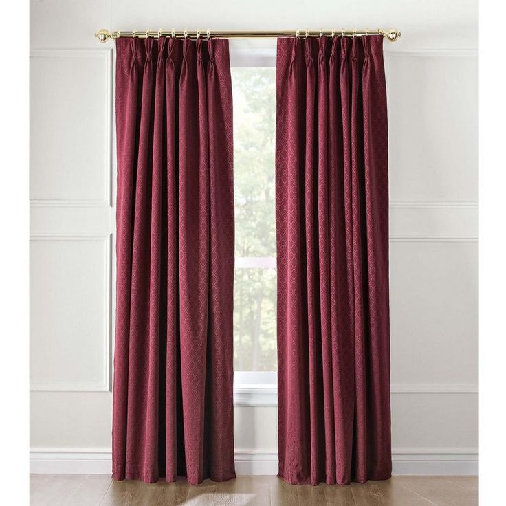 Masquerade Pinch-Pleated Panels Insulated Drapes for $55.99