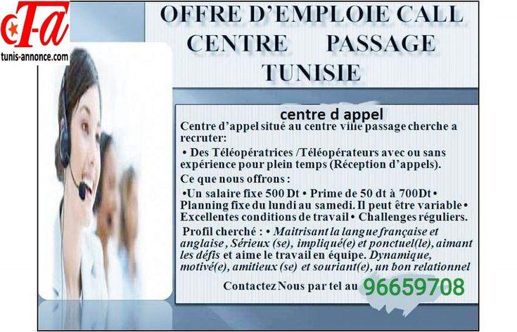 offre d'emploi:Centre d appel