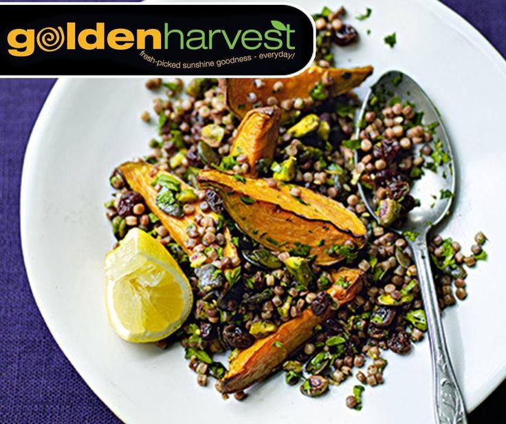 This Spiced Wholewheat Couscous with Sweet Potato and Pistachios is super easy and quick to prepare, which makes it an ideal #MeatfreeMonday dish. Click here for the full recipe: http://ablog.link/4pe. Source: meatfreemondays.com. #GoldenHarvest