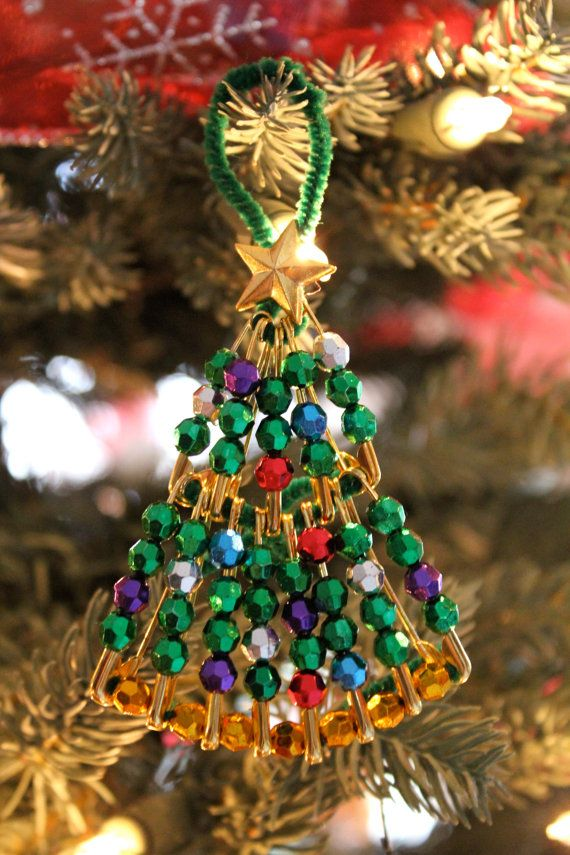 Marvelous Safety Pin Christmas Crafts Part 13 Beaded