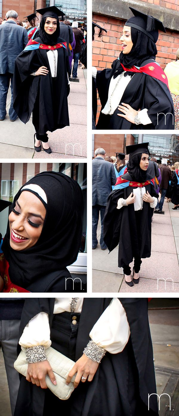awesome Hijab Style with Commencement Caps