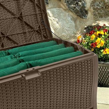 4x2 Suncast Resin Wicker Deck Box