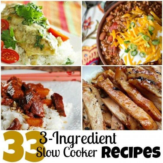 33 3 Ingredient Slow Cooker Recipes