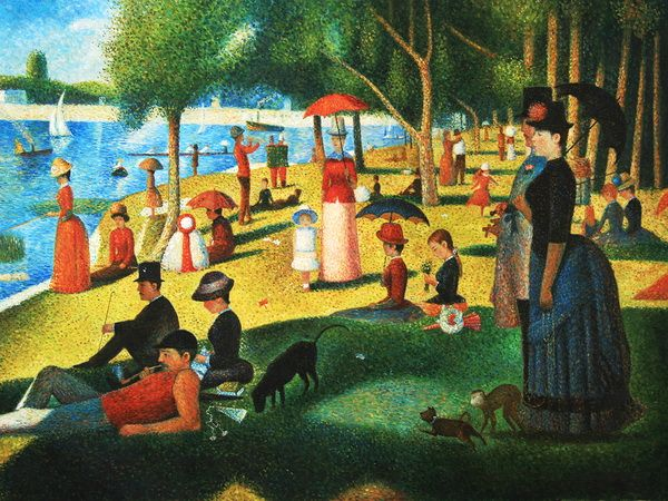 an analysis of the painting a sunday afternoon painted by georges seurat Sunday afternoon on the island of la grande jatte by georges seurat (1886):  analysis of pointillist genre painting  by georges seurat one of the greatest  modern paintings of the 19th century contents • description • background.