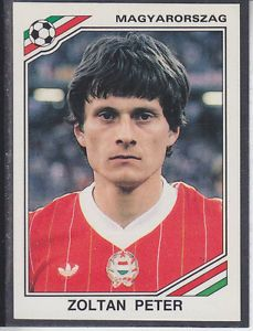 Image result for mexico 86 panini hungary peter