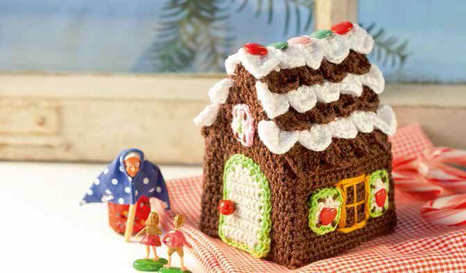 Liebevolle Häkelideen zu Weihnachten- Lebkuchenhaus