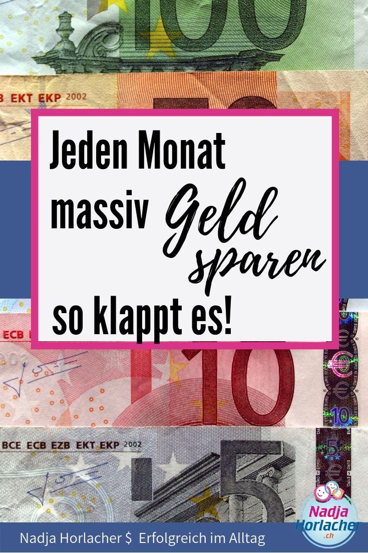 Jeden Monat massiv Geld sparen – So klappt es