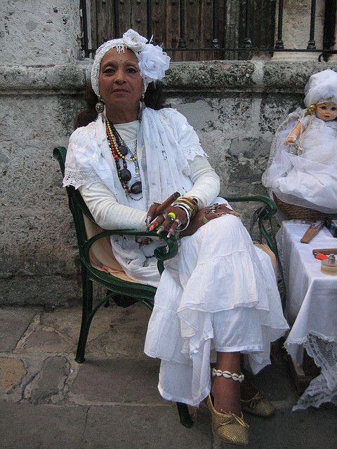 "One of Havana, Cuba many beautifully dressed ""abuelitas""."