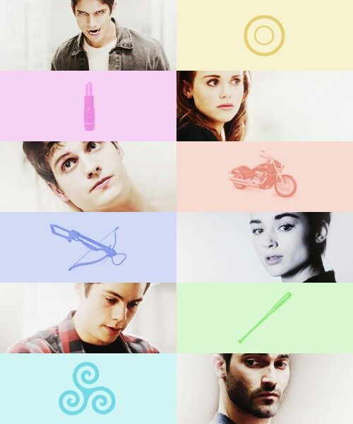 Scott, Lydia, Isaac, Allison, Stiles, and Derek from Teen Wolf
