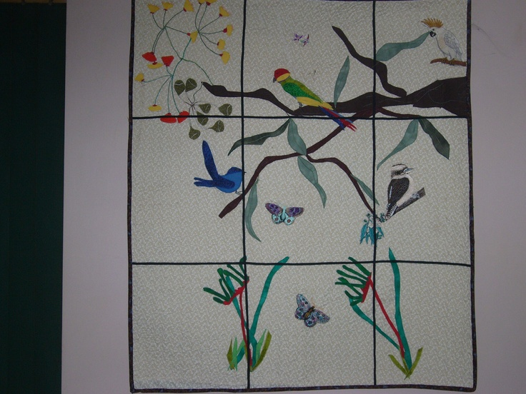 This quilt is a copy of my lead light window.