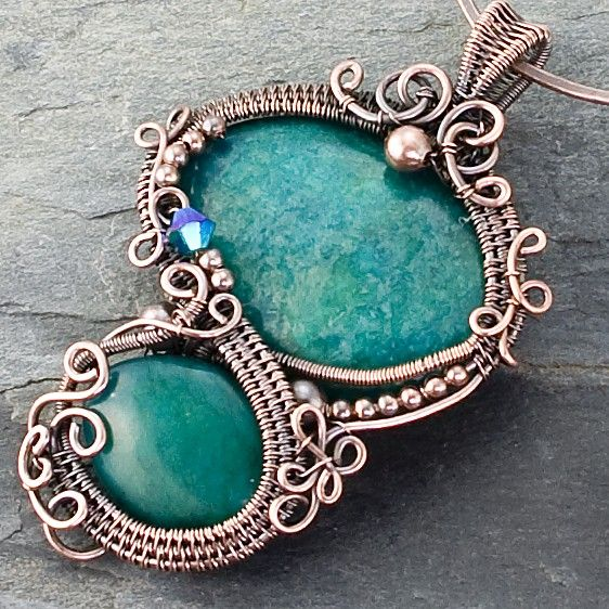 Everglade Copper Pendant by sarahndippity on Etsy