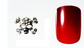 FF Nail Art Kit Κόσμημα A, Νο 13 (2 Τεμ.) Κοσμήματα Nail Art για μοναδικά nail design. Είναι κατάλληλα για τεχνητά νύχια (ακρυλικό και gel) καθώς και για σχέδια σε μόνιμο βερνίκι. Το νύχι της φωτογραφίας είναι ενδεικτικό για να κατανοήσετε το μέγεθος του κοσμήματος και αντιστοιχεί σε ένα μεσαίο γυναικείο νύχι (δείκτης ή παράμεσος) μικρού μήκους. Αναλογία σε tip: 6-7 νούμερο. Τιμή €3.00
