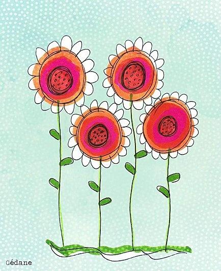 Peinture avec les enfants ou couture main libre pour moi ^^ Merci Gedane ! c'est très joli