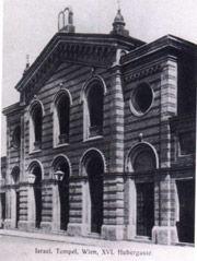 Synagoge Hubergasse 1160 Wien Hubergasse 8 Erbaut 1885/86. Architekt Ludwig Tischler.