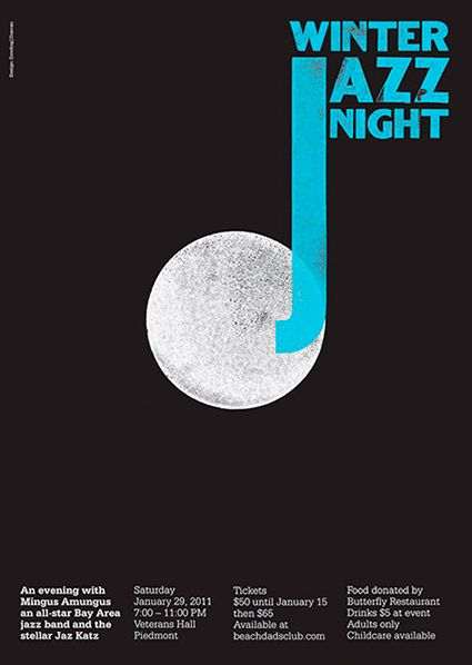Winter Jazz Night Poster ~ An evening w Mingus Amungus, An All Star Bay Area Jazz Band and the Stellar Jaz Katz  2011