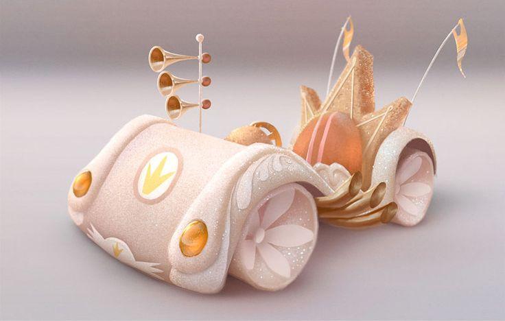 Wreck-It Ralph - Concept Art - King Candy car