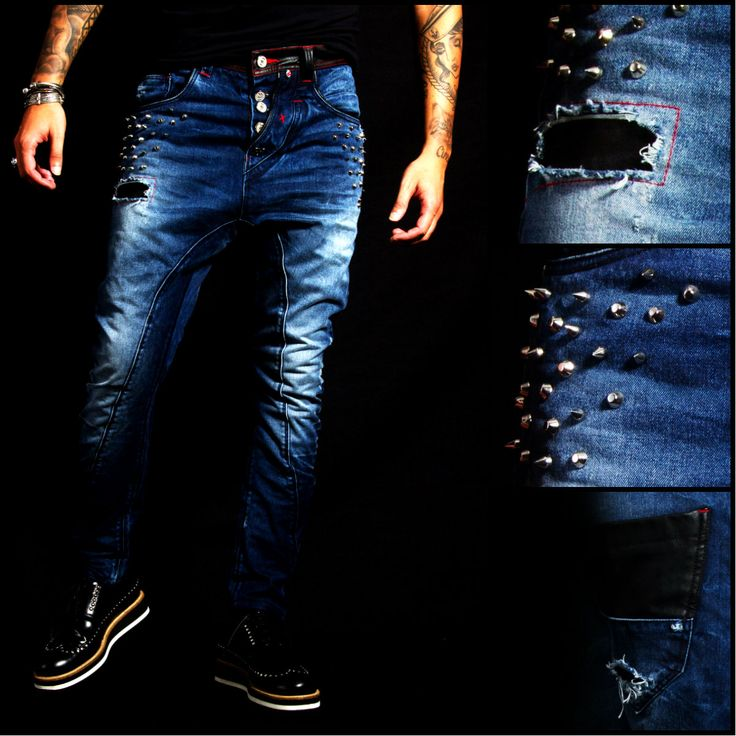 LEATHER & PEAKS JEANS #RHREDHOUSE #JEANS #FASHION #AW13 #LEATHER #DENIM #STYLE #COUTURE #PEAKS