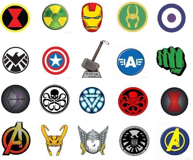 20 avengers marvel symbols disneymulti 1 nail artwater