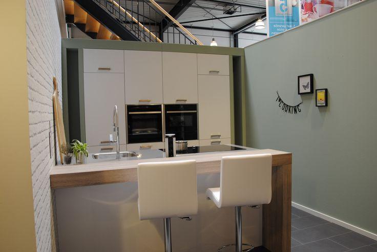 Keuken in trendy groen.