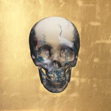 "Saatchi Art Artist Magnus Gjoen; Printmaking, ""SOLD OUT! YOU ONLY DIE ONCE (GOLD LEAF)"" #art"