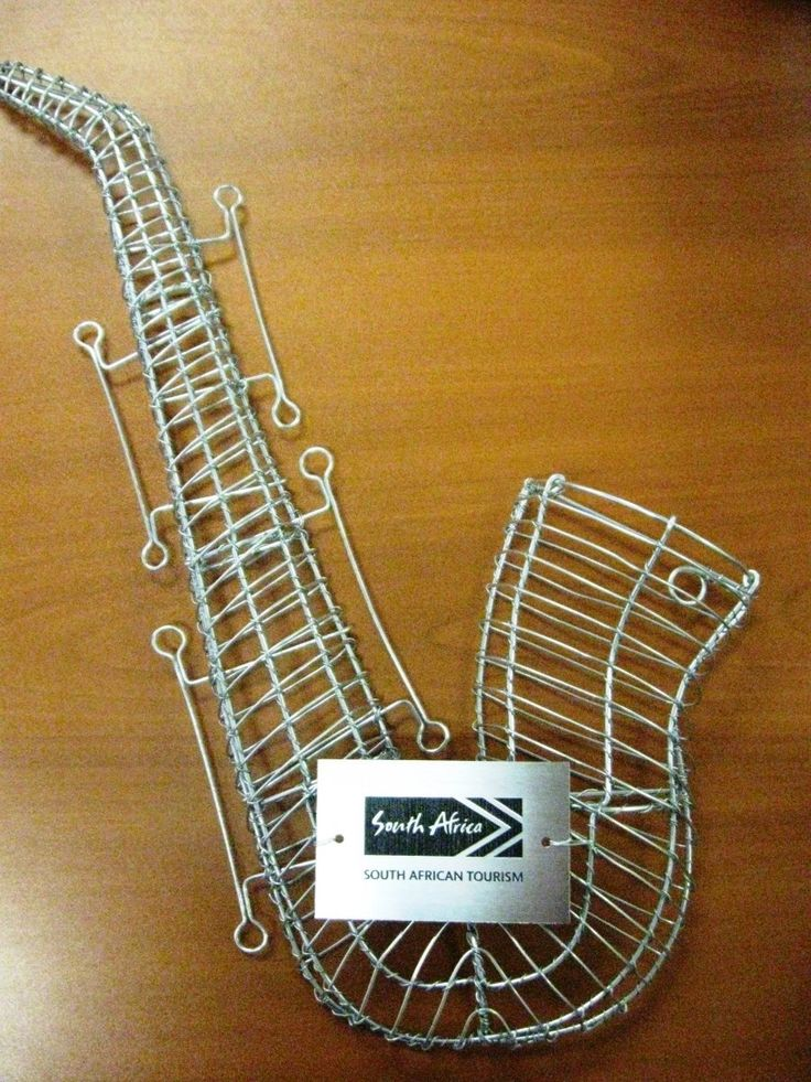 Wire Hand Craft Saxophone for the Cape Town Jazz Festival, Cape Town