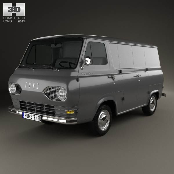 Ford E-Series Econoline Panel Van 1961 3d model from humster3d.com. Price: $75