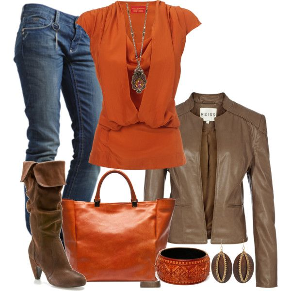 Love the orange and brown for fall