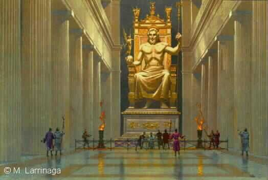 the golden statue of Zeus - Google Search