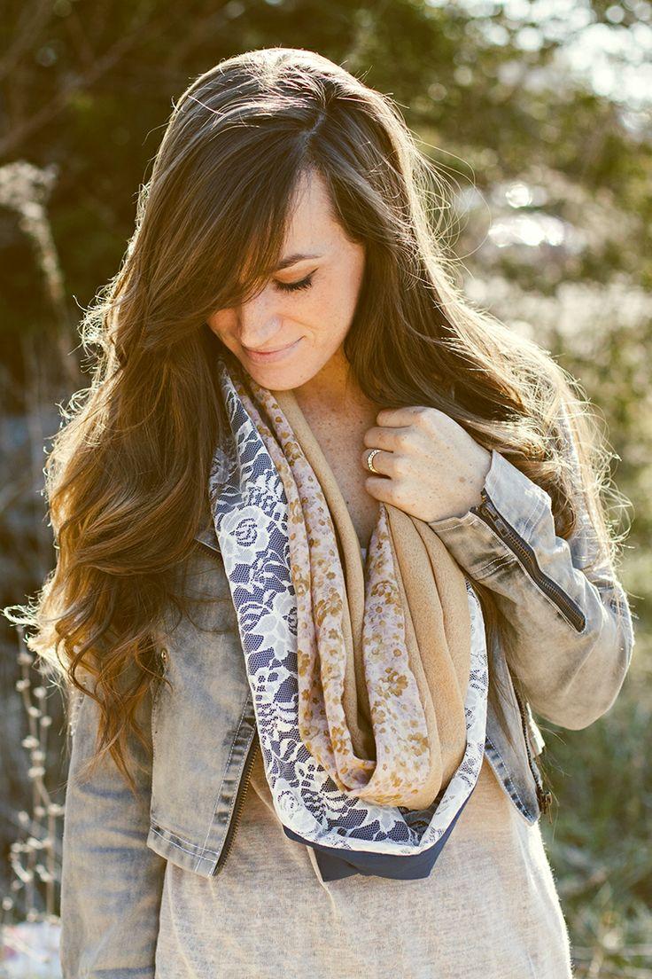 DIY: four piece circle scarf