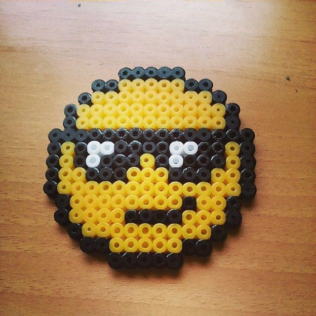 Smiley perler beads by yaredbluewind