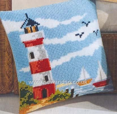 Lighthouse Cushion Front
