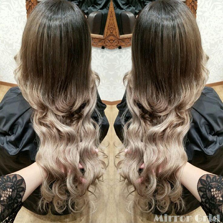 #根本暗め の#グラデーションカラー 💗 #ombre #balyageombre  #Balyage  #Haircolor #extensions  #gray #ash #グラデーション #ヘアカラー #エクステ #アッシュ #グレー #くすみ  #Hairsalon #Welina #hitomiyanagida  #myworks #お客様photo #じゅりちゃん #ありがとう