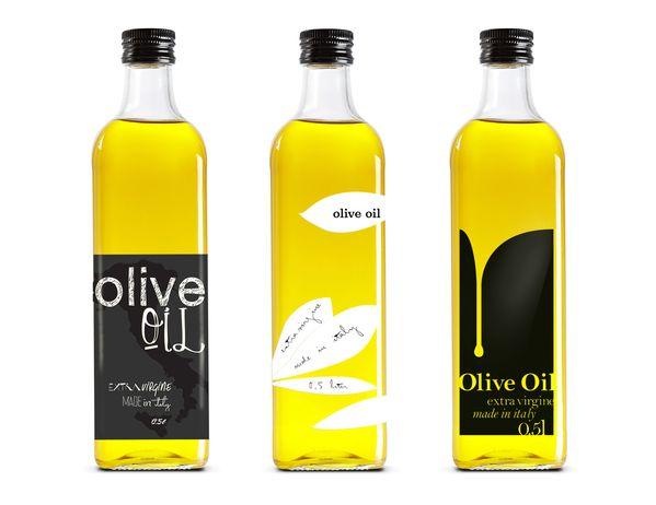 Italian Olive Oil by Nina Brandt, via Behance