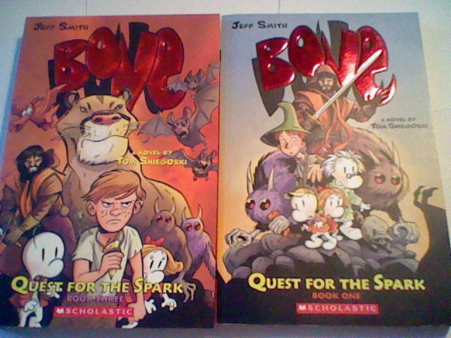 Jeff Smith : Bone Quest For The Spark BOOK ONE/ Three ,Novel paperback