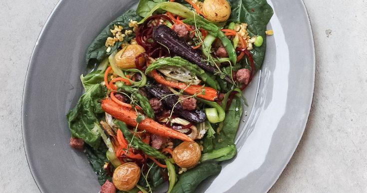 Primärsallad med lammkorv @ Foodfolder.se