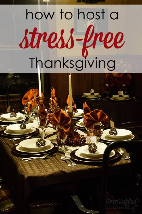 Are you worried about hosting Thanksgiving Dinner? Here are nine tips to help you organize ahead of time so Thanksgiving Day is completely stress-free!