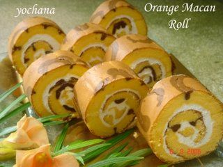 Yochana's Cake Delight! : Orange Macan Roll