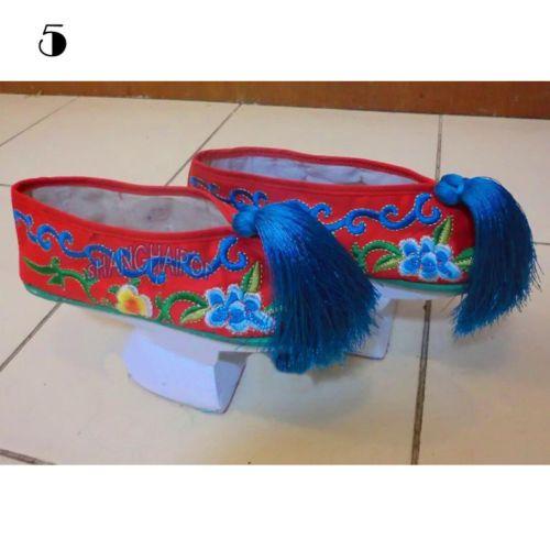 Zapatos de la dinastía Qing. Rojos