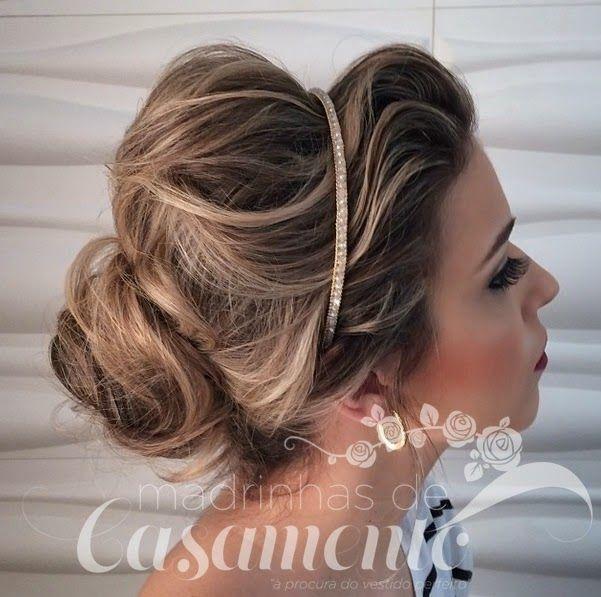 Madrinhas de casamento: Os penteados de Janaina Mendes