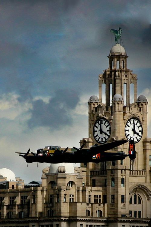 "michell169: "" Avro Lancaster fly-by """