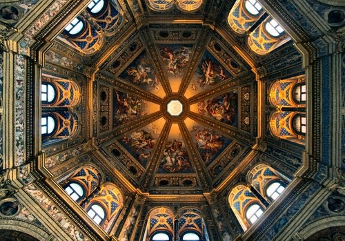 The Ceiling of the Church of Incoronata, Lodi, Italy.