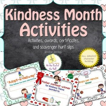 The Great Kindness Challenge falls in the month of January. Included ...