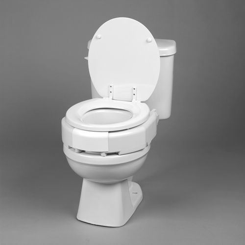 Elevated Toilet Seat  Hinged 3  Securebolt Elngtd Bariatric  Medi755