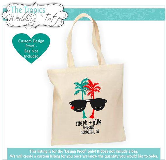 Tropical Destination Wedding Bag Hawaii Wedding Welcome by Markeza