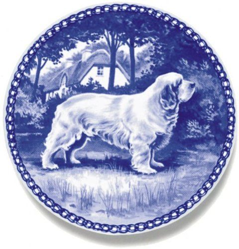 Clumber Spaniel / Lekven Design Dog Plate 19.5 cm /7.61 inches Made in Denmark NEW with certificate of origin PLATE -7147 * Want to know more, click on the image. (This is an affiliate link and I receive a commission for the sales)