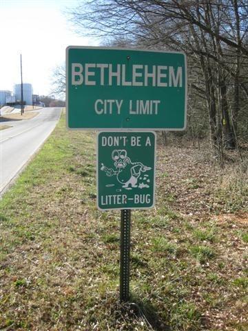 Bethlehem, GA where the street names relate to Christmas - a Christmas card with a Bethlehem postmark is a treat!!